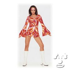 Retro Swirl Mini Skirt costume idea