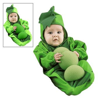 Infant Baby Pea Pod Bunting costume idea