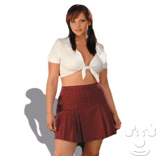Sexy School Girl Plus Size costume idea