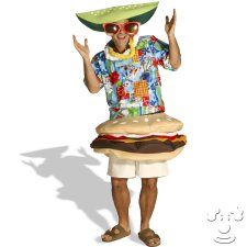 Paradise Burger Adult Funny costume idea