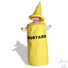 Infant Baby Mustard Bottle Bunting costume idea
