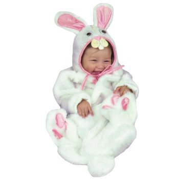 White Rabbit Infant Baby costume idea