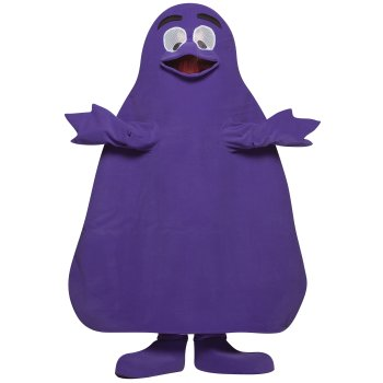 Grimace of McDonalds TV costume idea