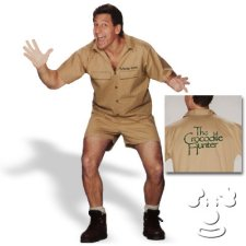 Crocodile Hunter Steve Irwin Adult Men's costume idea
