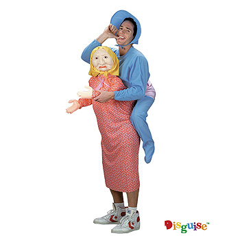 Baby on Back Piggyback Adult Funny costume idea