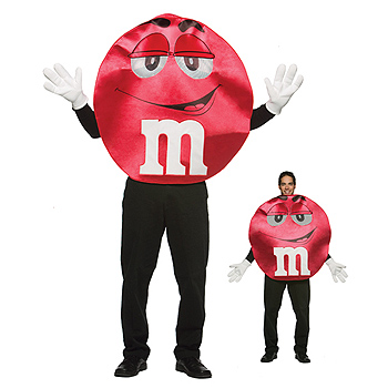 MnMs Red Adult Deluxe costume idea