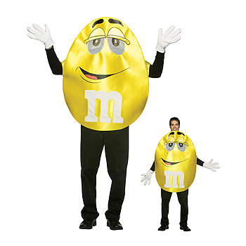 MnMs Yellow Adult Deluxe costume idea