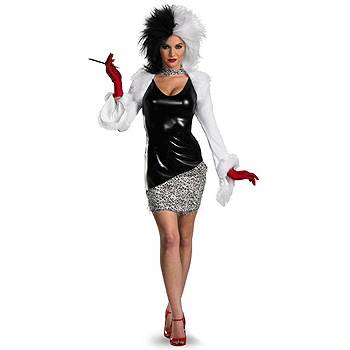 Womens Sassy Cruella De Vil Adult costume idea
