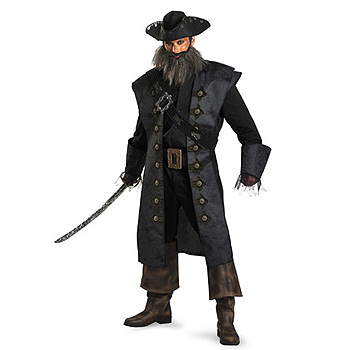 Black Beard Pirates Caribbean Adult costume idea