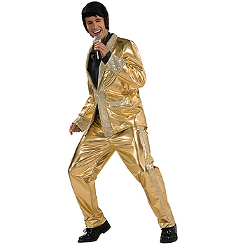 Elvis Gold Lame Suit Adult Deluxe costume idea