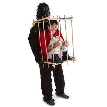 Gorilla Man in Cage Funny Adult costume idea