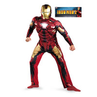 Mens Classic Muscle Iron Man Mark VI Costume