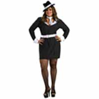 Queen Size Gun Moll Costume For Adult