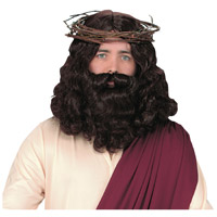 Jesus Wig And Beard For Adult