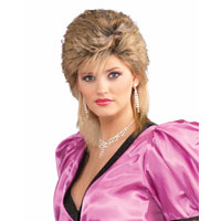 80s Style Sprayed Wig For Adults