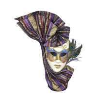 Venetian Style Mask With Peacock Feathers