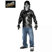 Metal Skull Biker Costume For Teen