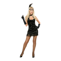 Adult Sexy Black 20s Flapper Costume