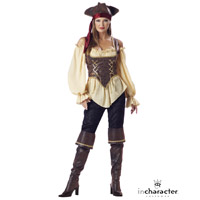 Elite Adult Womens Rustic Pirate Costume