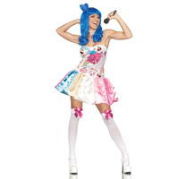Adult Sexy Sweet As Candy California Girl Costume