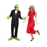 The Muppets Adult Miss Piggy Couples Costume