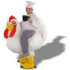 Chef Riding Chicken costume idea