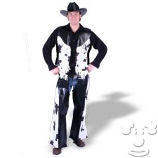 Teen Cowprint Cowboy costume idea
