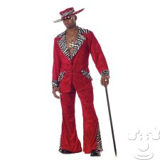 Red Velvet Pimp Adult Men's costume idea