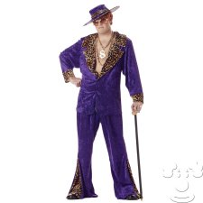 Plus Size Crushed Velvet Purple Pimp costume idea