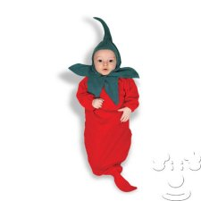 Infant Baby Red Hot Chili Pepper Bunting costume idea