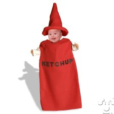 Infant Baby Ketchup Bottle Bunting costume idea