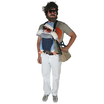 Alan of The Hangover with Baby Adult costume idea